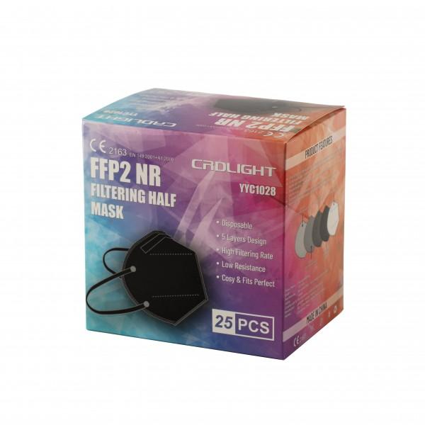 FFP2 Maske CRDLIGHT 25er Packung in vielen Farben ab 0,32€/Stück - Staffelpreise